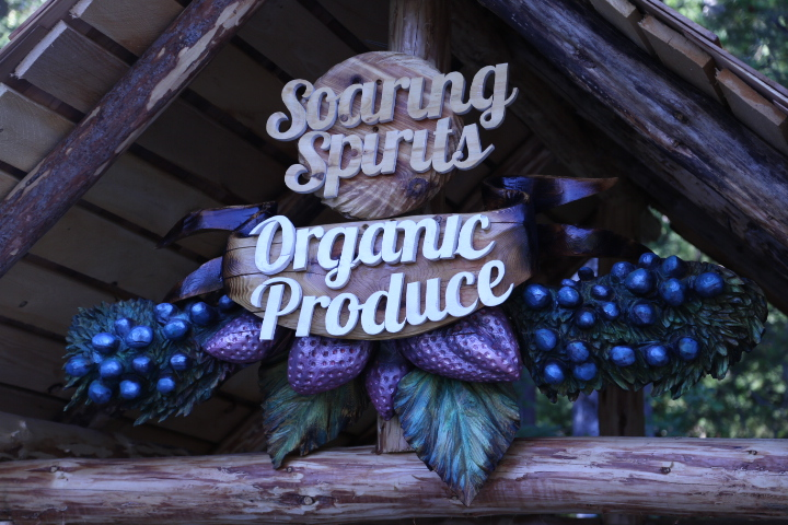 "Soaring Spirits Organic Produce: Road Stand Sign  (~36x30""/ 915x760)"