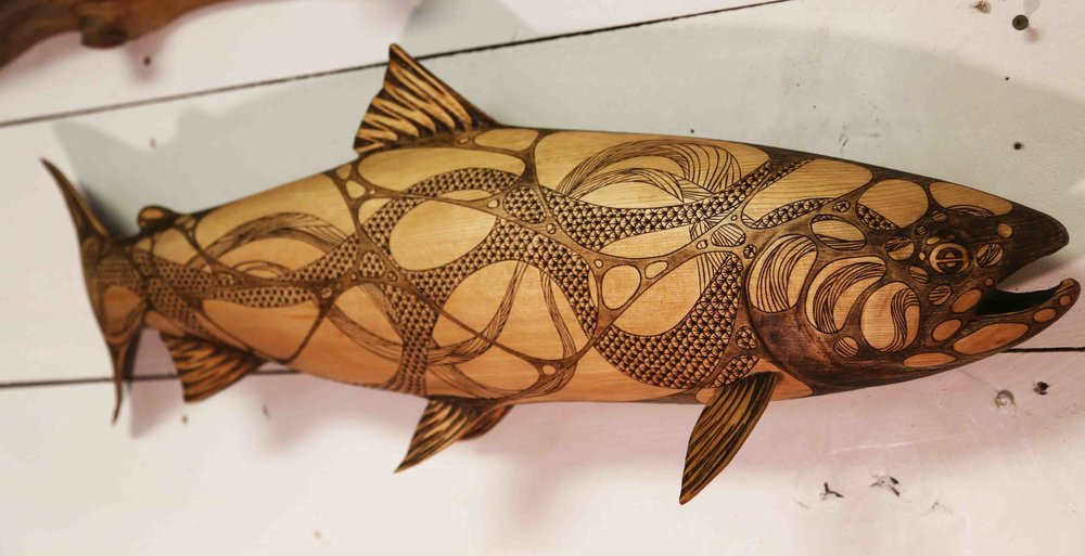 "Skeena Steelhead 17 - 28x10x6"", cedar, Roderick Brown, 2018 -  available"