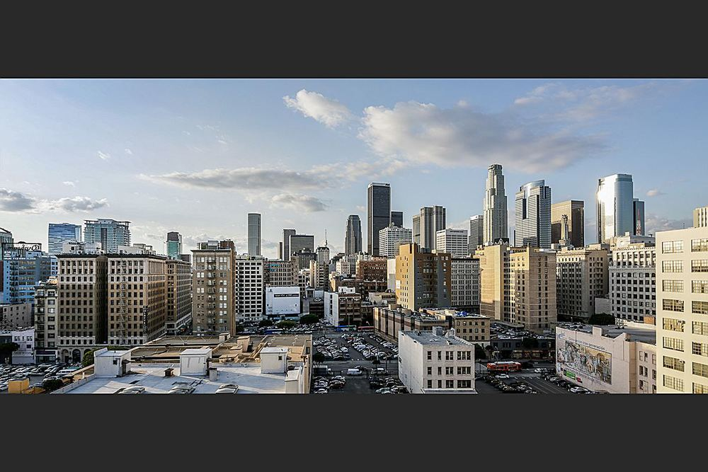 Rooftop View of Los Angeles Skyline