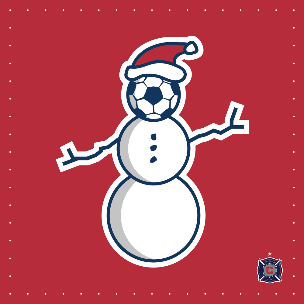 """Holiday Soccer Schools"" illustration used on marketing materials to promote the Fire's Soccer in the Community program."