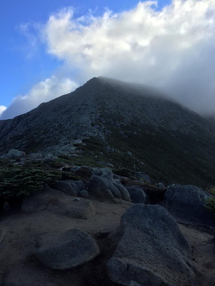 Final ascent up Katahdin