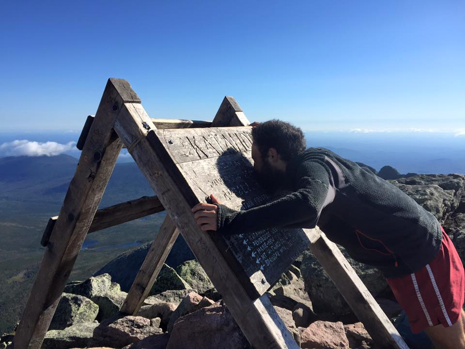 Obligatory kiss the Katahdin sign photo