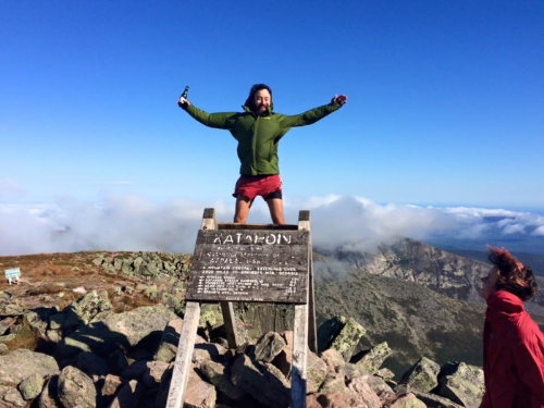 Top of Katahdin in Maine, USA