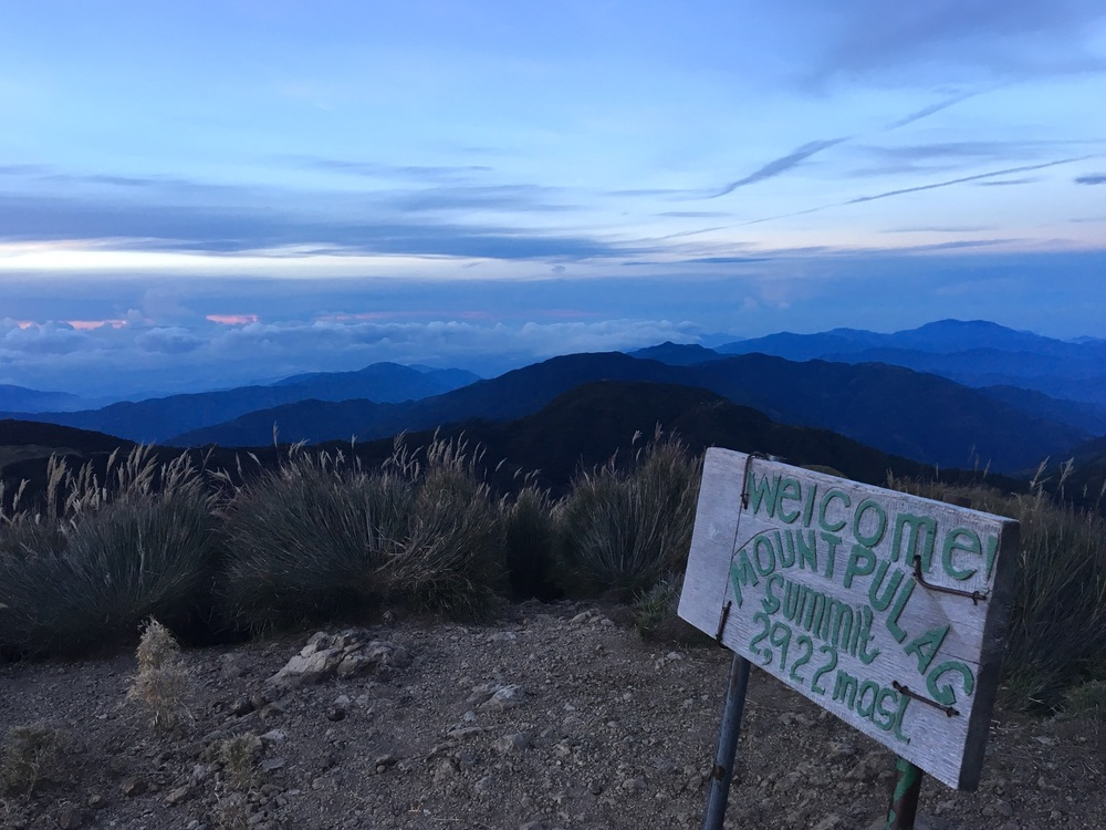 Summit view just before sunrise