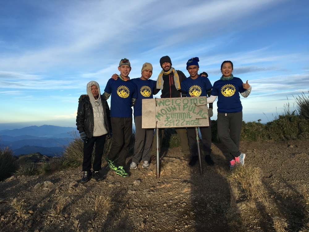 The group at the summit. I did not get the t-shirt memo.