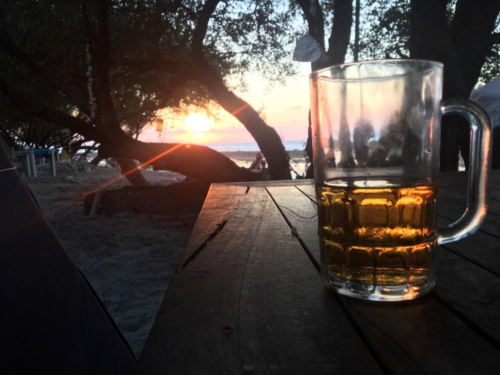 Sunset on Gili T.