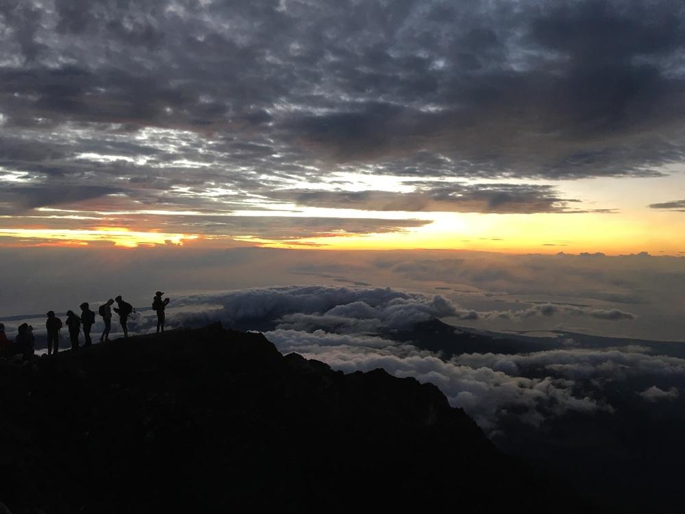 Sunrise on top of Rinjani