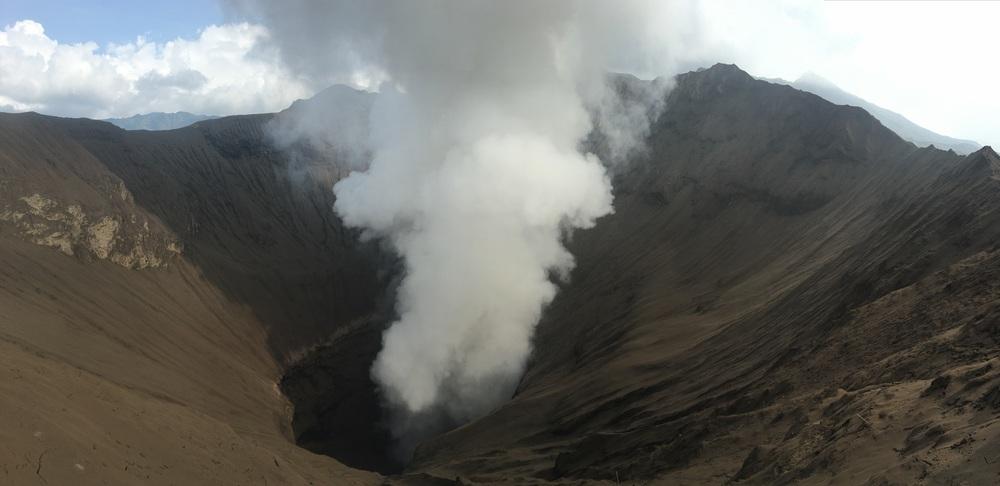 Looking into Mt Bromo