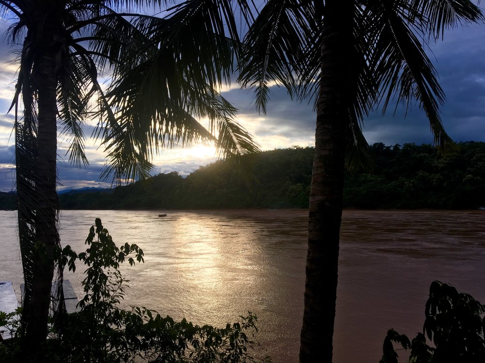 First night's sunset in Luang Prabang