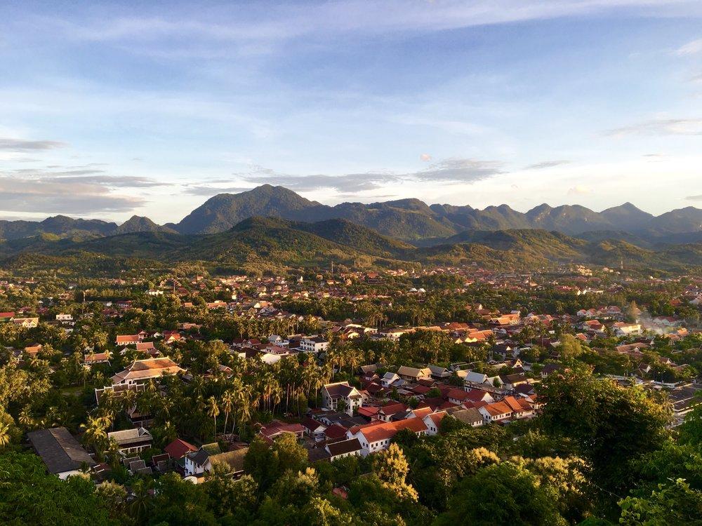 Luang Prabang from Mt Phousi
