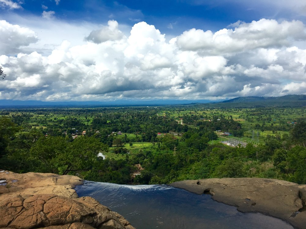 Looking over the edge of the Bolaven Plateau