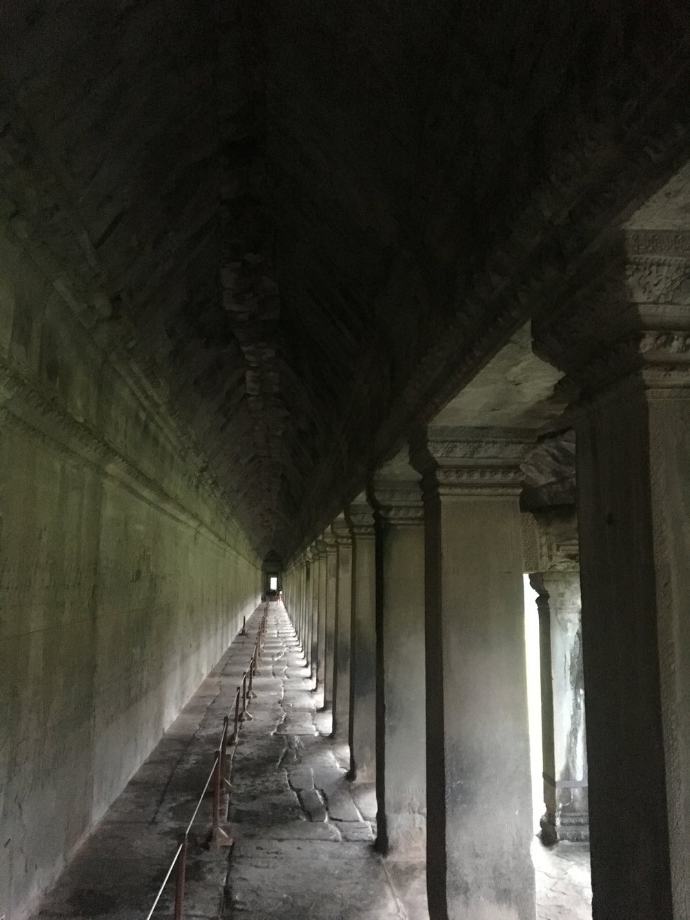 Exploring inside the temples