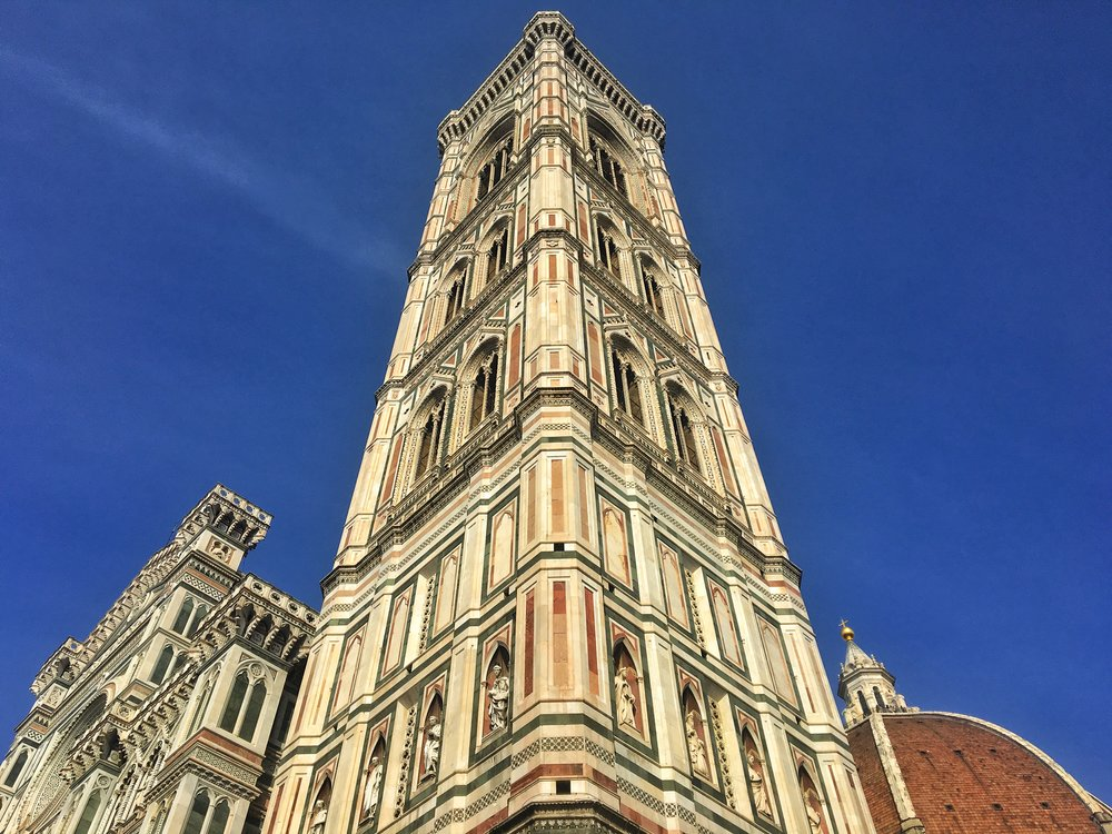 The bell tower of the Duomo of Florence