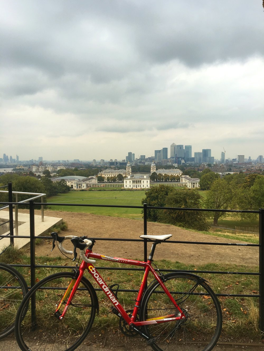 Riding our bikes through Greenwich Park