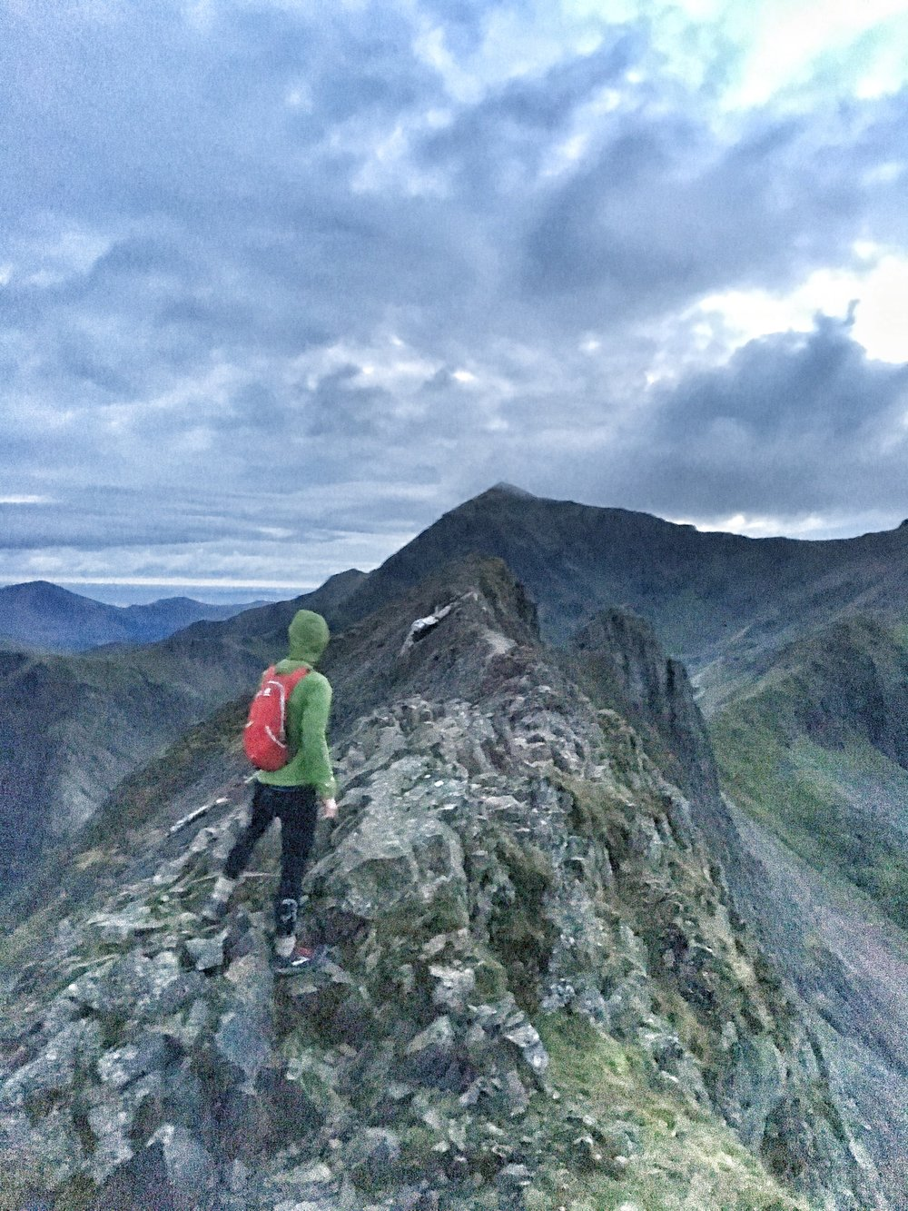 Trying to convey the experience of hiking Crib Goch in the dark is difficult. This photo is the best I could do, but I suggest you go there and experience it yourself.