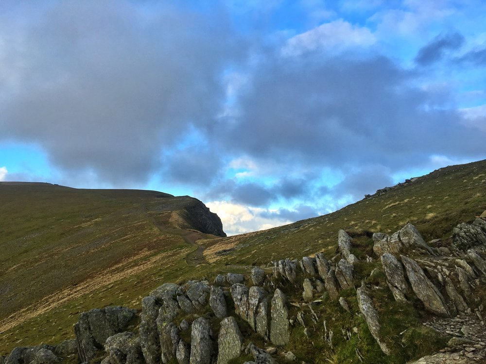 Looking up Helvellyn