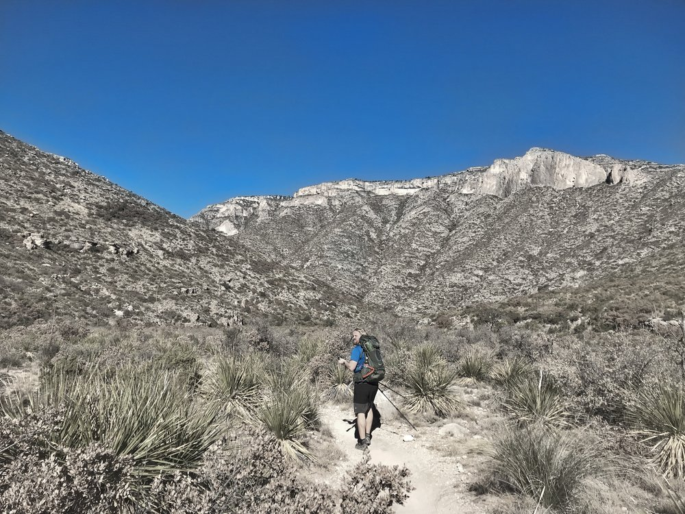 Heading into McKittrick Canyon