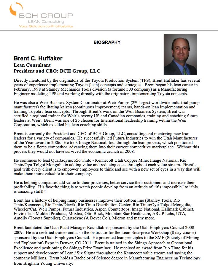 BCHG Founder — BCH Group, LLC