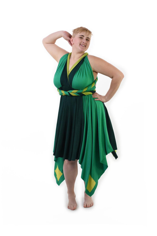 Peridot Inspired Convertible Dress
