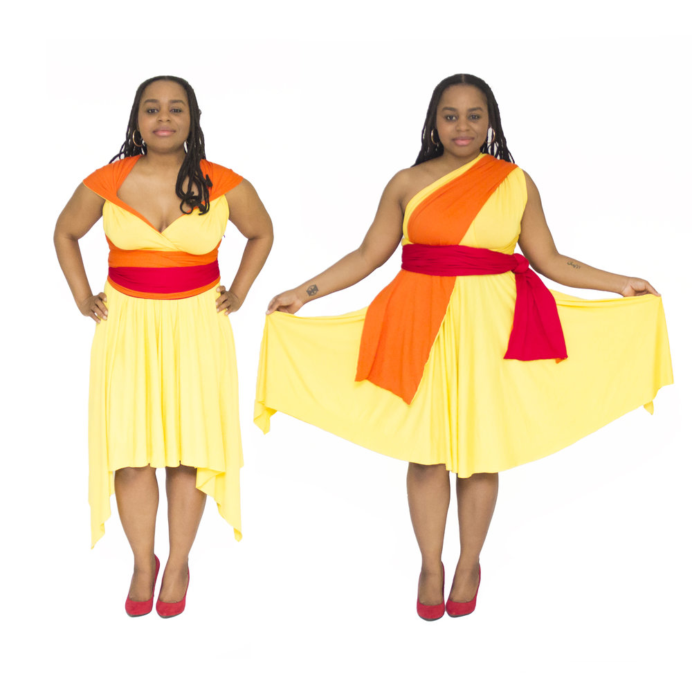 Air Manipulator Inspired Convertible Dress