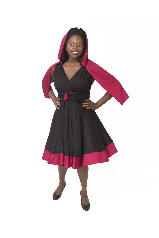 Crescent Rose Huntress Inspired Convertible Dress