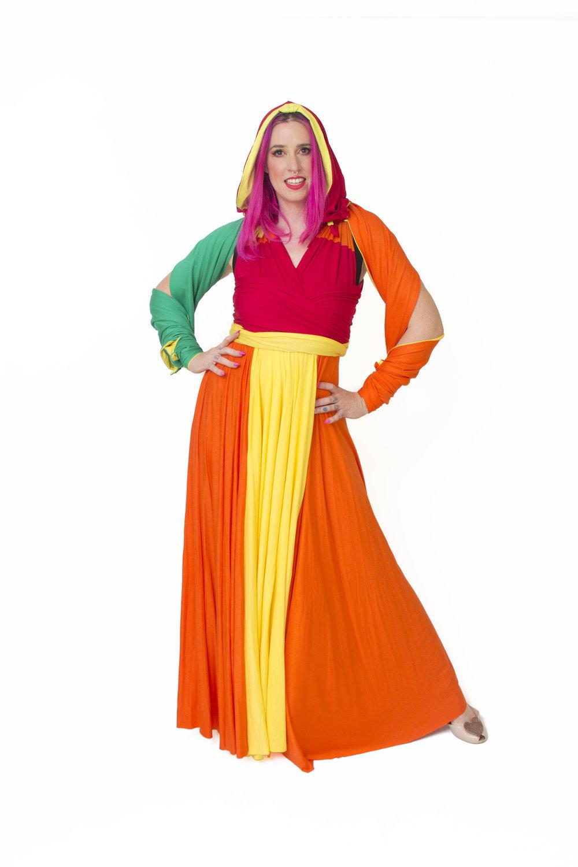 Galactic Bounty Hunter Inspired Convertible Dress