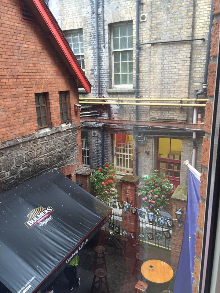 Sweet view from our room on Fishamble Street