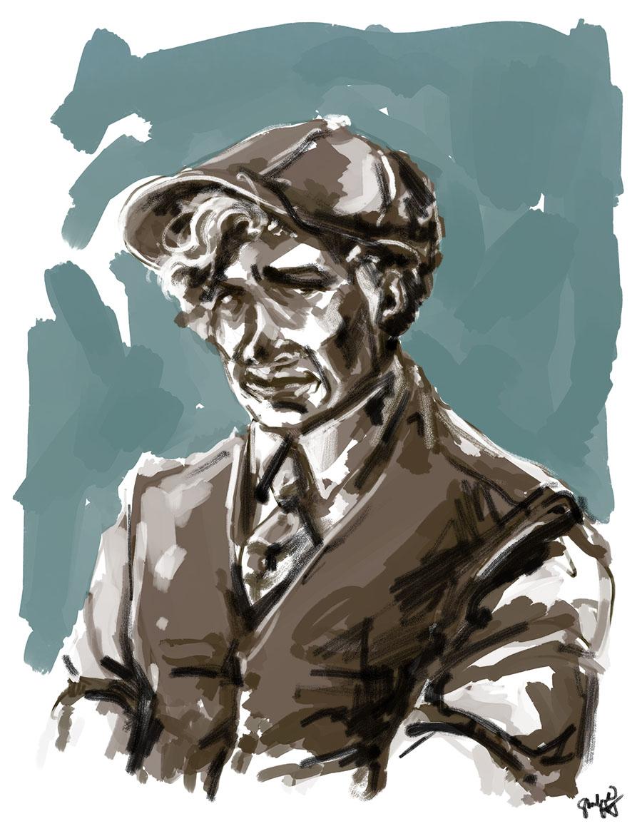 daily doodle -- newsboy hat and waistcoat circa 1922