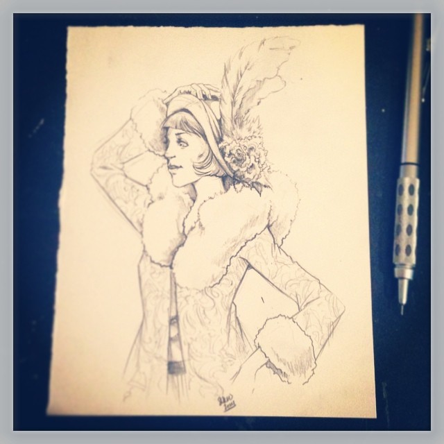 costume sketch -- circa 1925