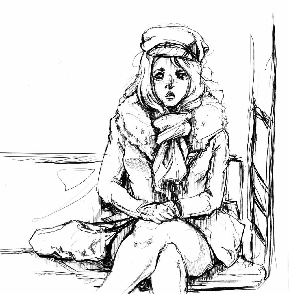 daily doodle -- on the subway, observational