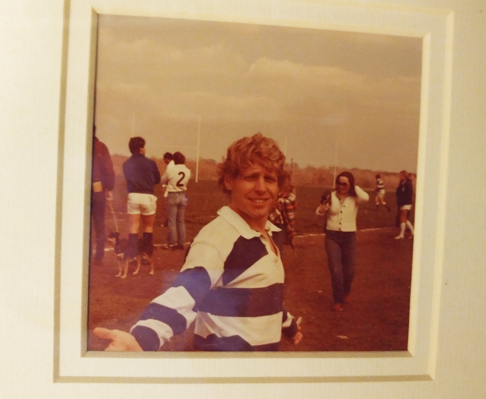 My dad in Washington D.C. -- at some point in the 70's. I still have this jersey, and its traditional blue hoops are replicated in the kit Ollie and his friends wear.