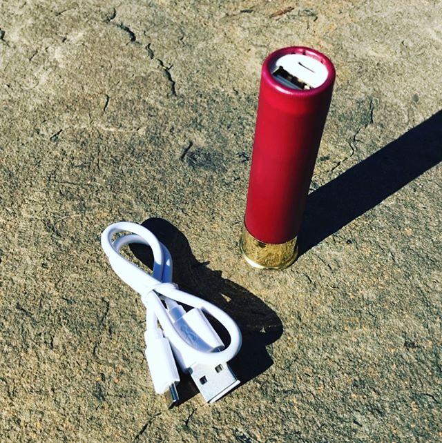 Charge your phone with a shotgun shell! Assembled in the USA. #giftideas #gift #blackfriday #cybermonday #christmas #shotgunshell #shotgun #12gauge #usa