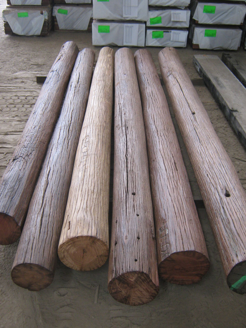 Recycled Class 1 Durable Poles - Hand Brushed
