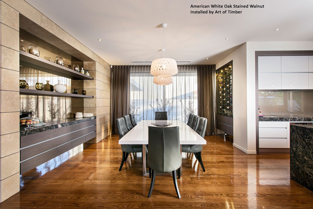 American White Oak Walnut Timber Flooring
