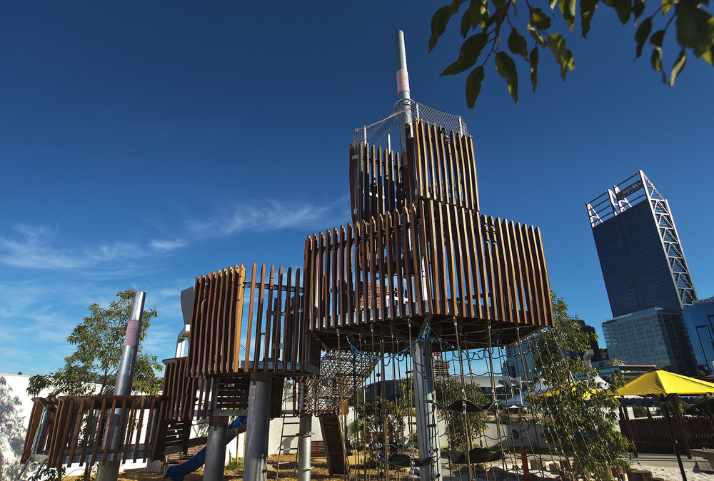 Recycled Spotted Gum Blend - Elizabeth Quay Playground