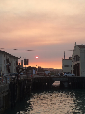 Sunset image from Fort Mason during SOCAP17