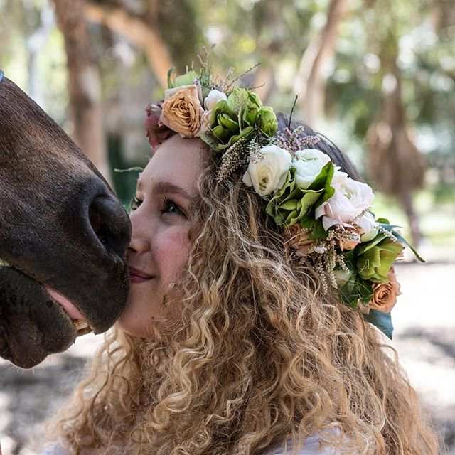 True Love #floralcrown #flowers #flora #floraladornment #floraaurahalo #wildadornment