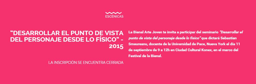 Sebastian Tudores Workshop Festival Bienal Arte Joven
