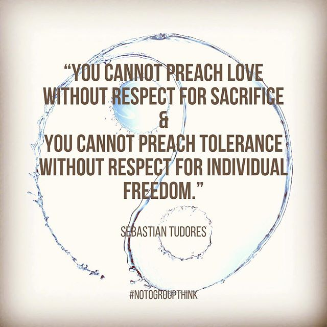 Words of the day - #respect #sacrifice #freedom (not heard often these days)