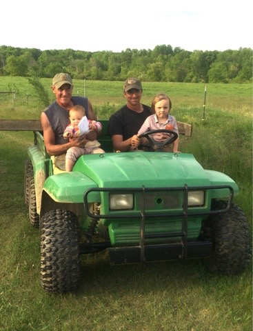 Josh's dad came to help up from Missouri to help with cultivating.  Family farming!