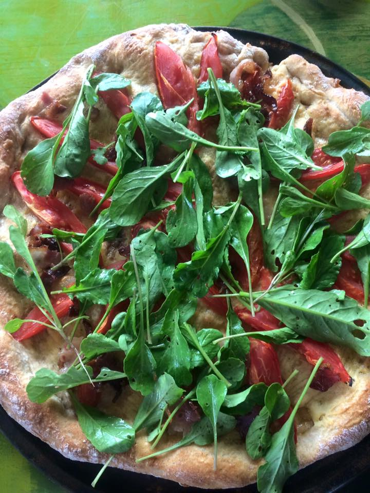 Pizza Friday featuring arugula which will soon make it's way into your CSA box again
