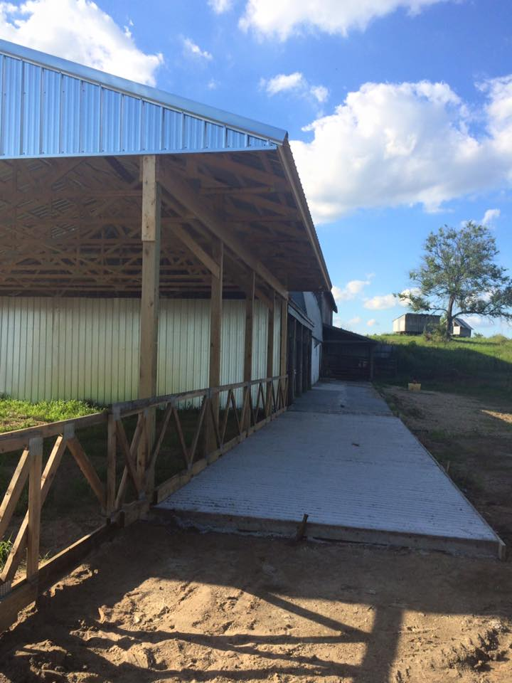 cow loafing shed/hay storage nearing completion