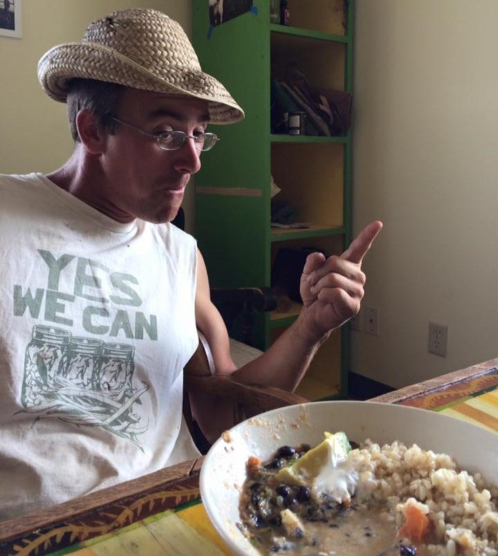 farmer Josh gettin silly at lunch time