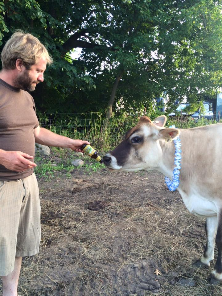 Langua getting in on the party with our friend and neighbor farmer Jason from Steady Hand Farm.