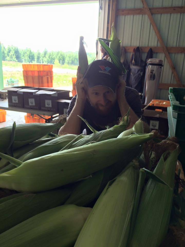 And Andrew is enjoying packing it into your CSA boxes!