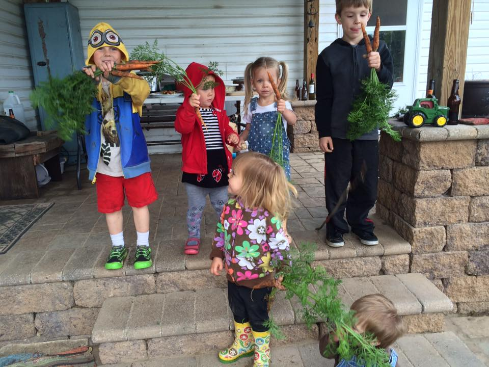 Kiddos with their carrots at the harvest party!  Thanks so much to all who were able to make it out!