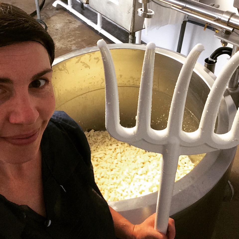 Your cheesemaker is very happy to have a new plastic pitchfork to stir their cheese curds.