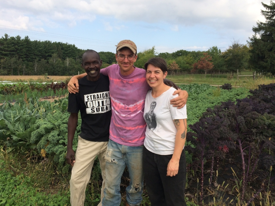 a visit from Joel, a farmer from Kenya and a friend of our CSA hosts, Jenna and Chaz