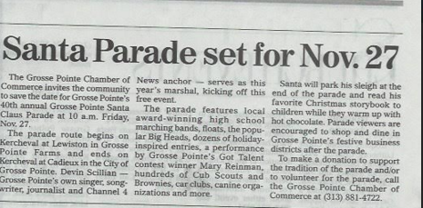 GROSSE POINTE NEWS/GROSSE POINTE SANTA CLAUS PARADE