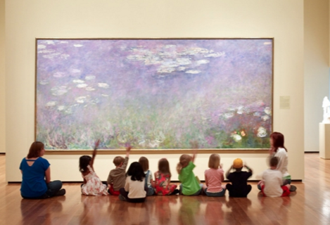 Wouldn't it be nice to sit in front of Monet's Water Lillies? Maybe next semester! :)